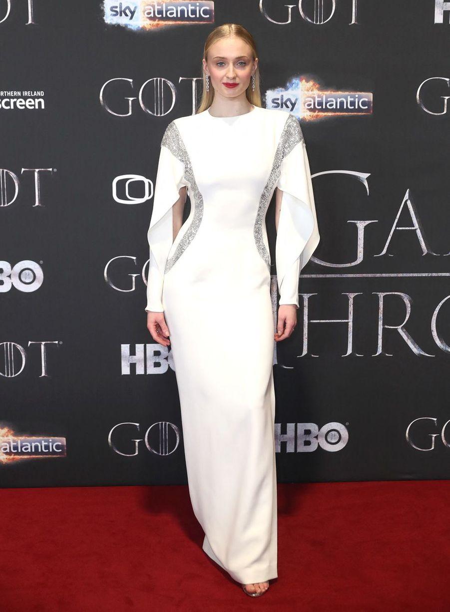 Sophie Turner à la première de la saison 8 de«Game of Thrones» en avril 2019.