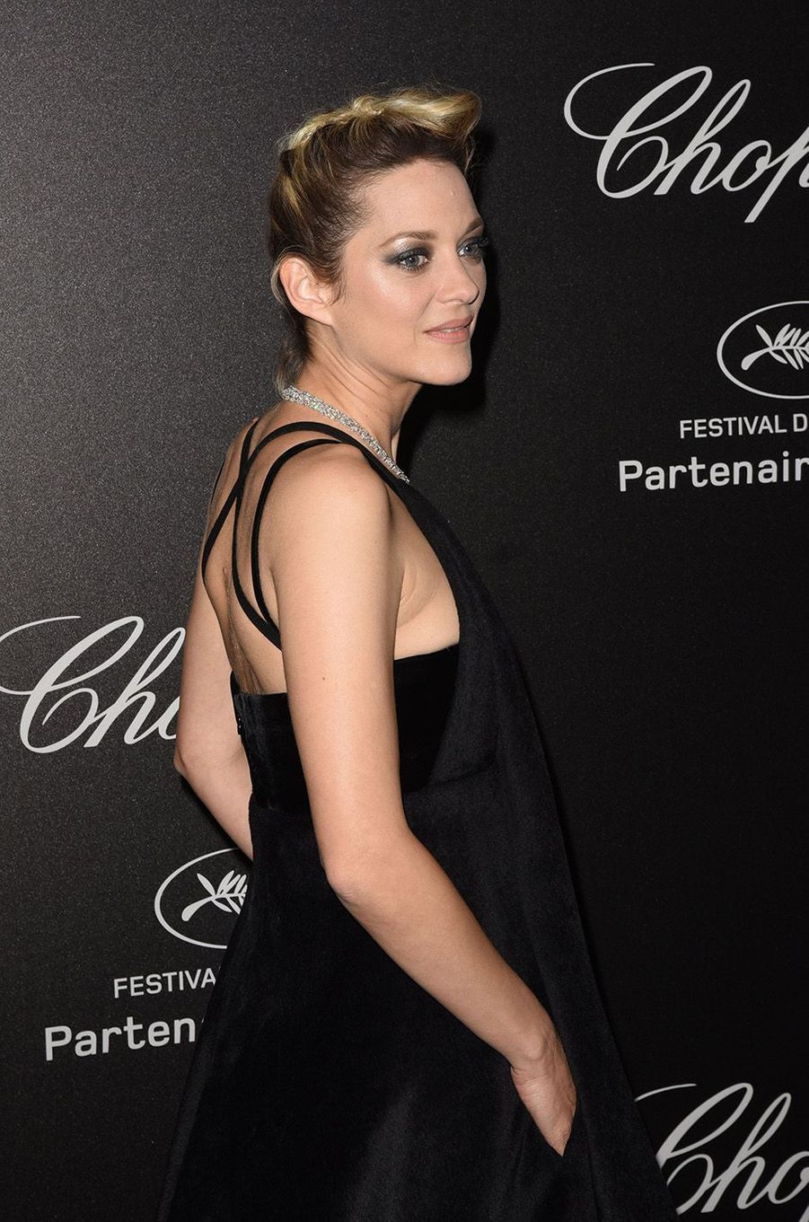 Marion Cotillard à la soirée Chopard à Cannes, le 11 mai 2018.