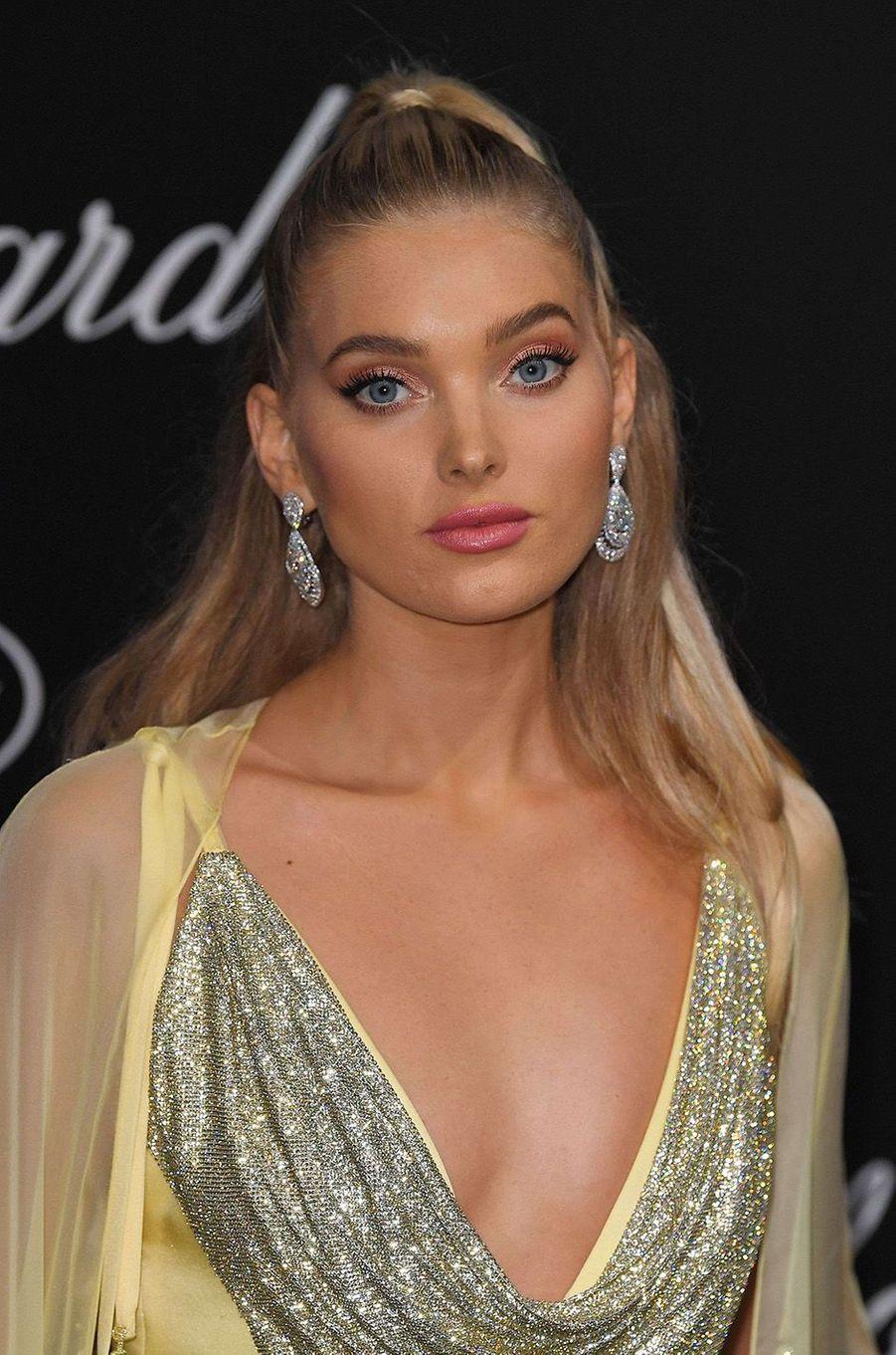 Elsa Hosk à la soirée Chopard à Cannes, le 11 mai 2018.