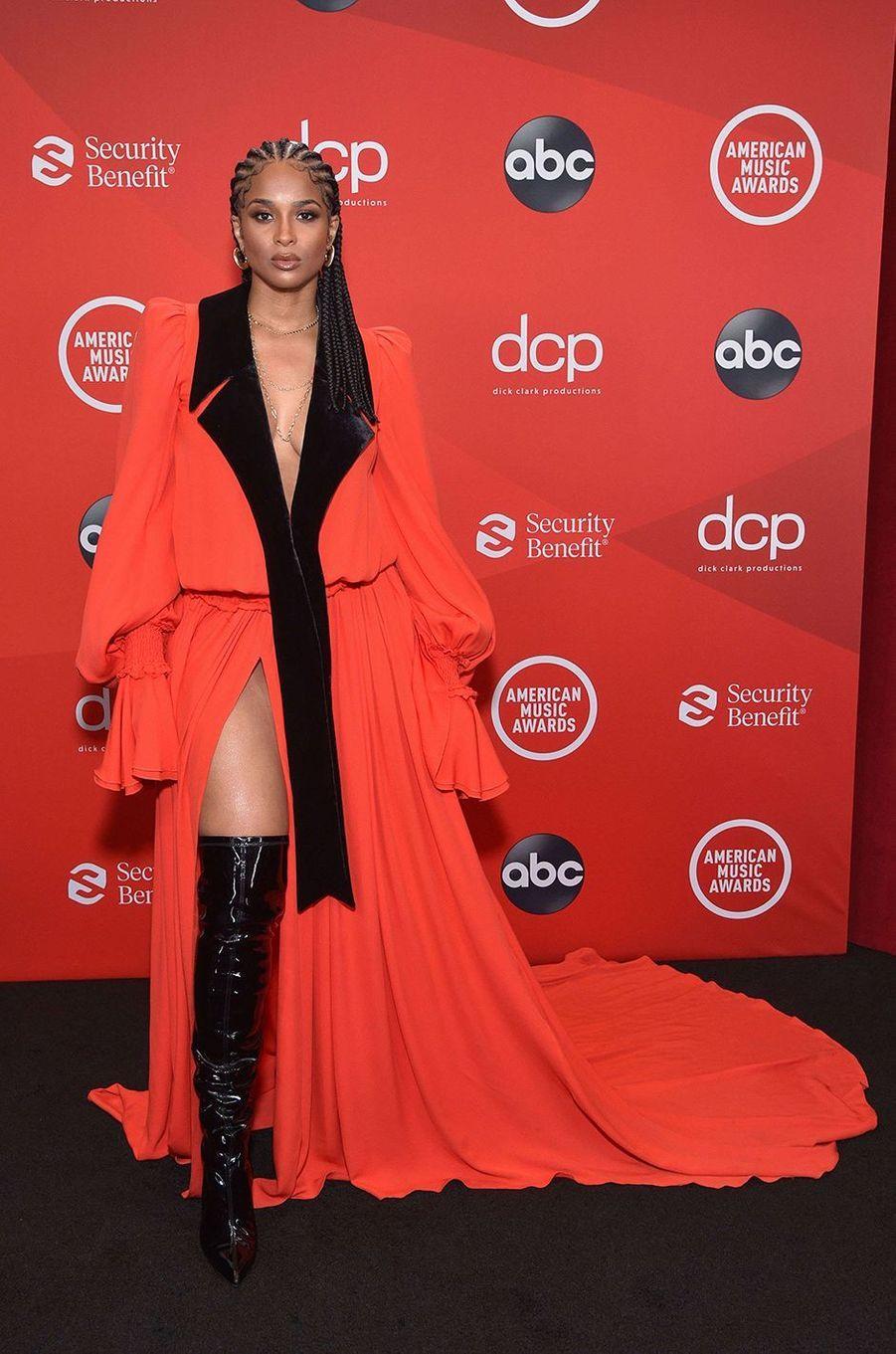 Ciaraaux American Music Awards à Los Angeles le 22 novembre 2020