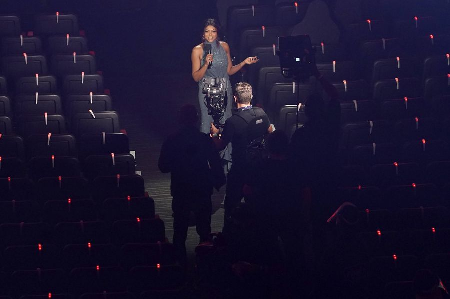 Taraji P. Hensonaux American Music Awards à Los Angeles le 22 novembre 2020
