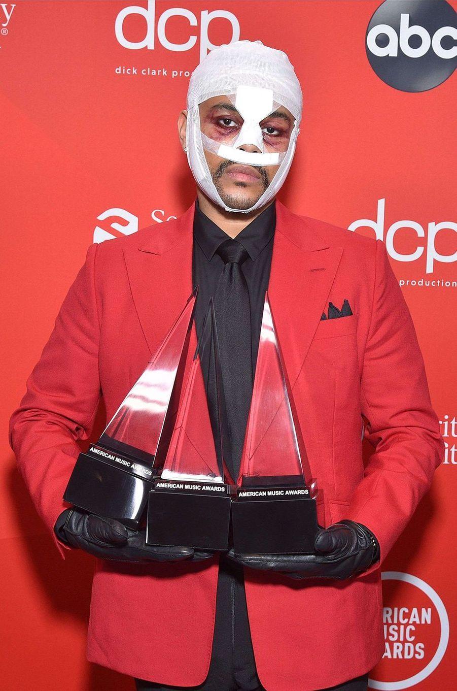 The Weekndaux American Music Awards à Los Angeles le 22 novembre 2020