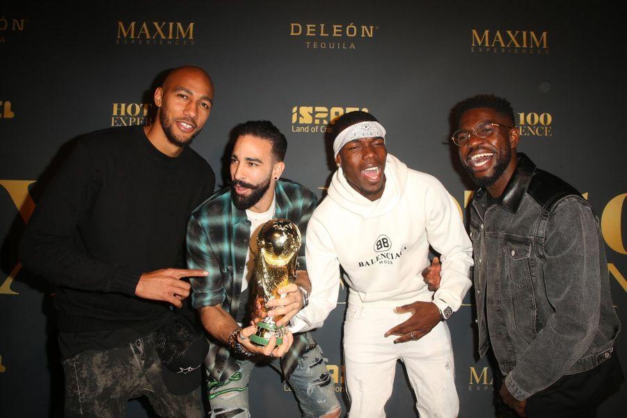 Steven Nzonzi,Paul Pogba, Adil Rami et Samuel Umtiti
