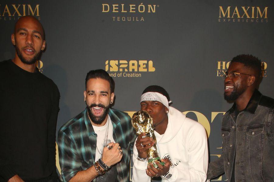 Steven Nzonzi, Paul Pogba, Adil Rami et Samuel Umtiti