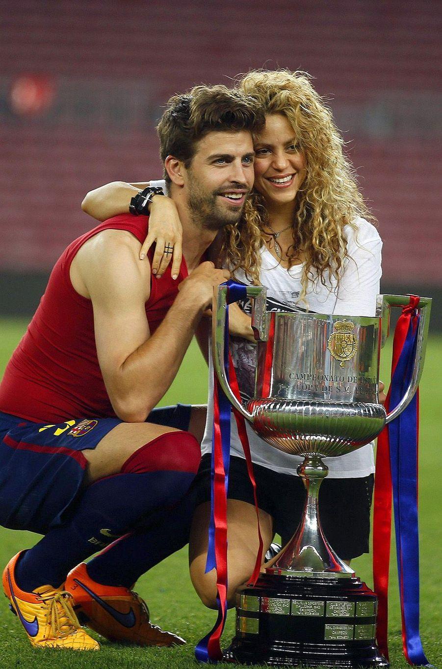 Shakira avec son époux Gérard Piqué.