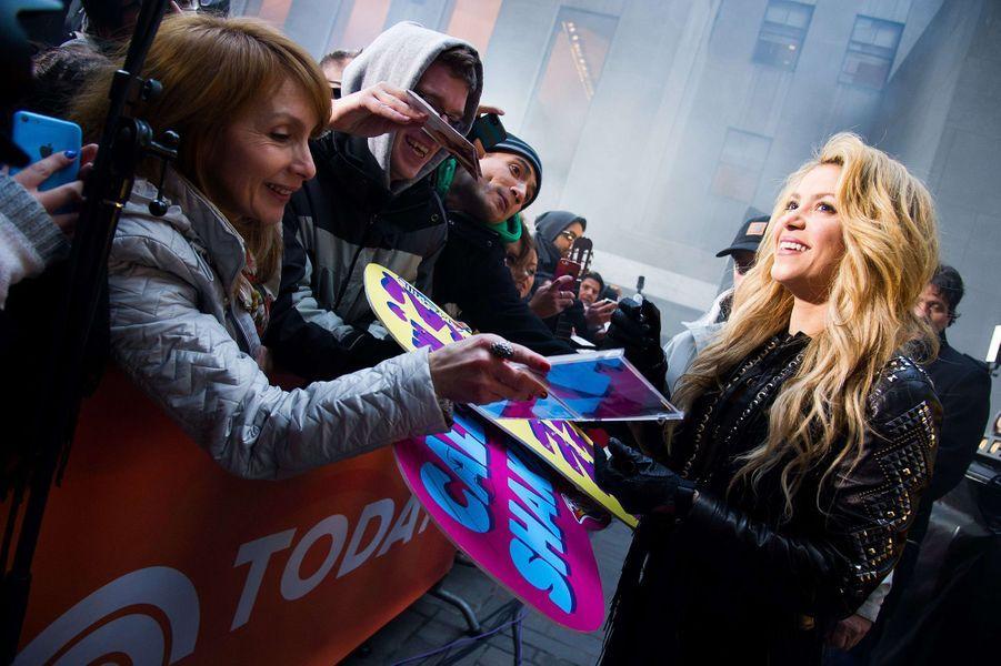 Shakira a des fans dans le monde entier, ici à New York en 2014.