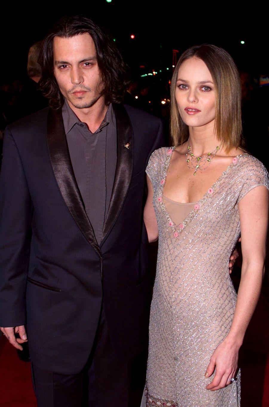 Vanessa Paradis avec Johnny Depp en 1999