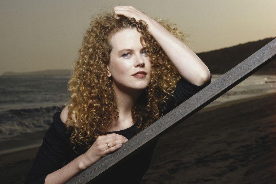 Nicole Kidman sur les plages australiennes en 1990.