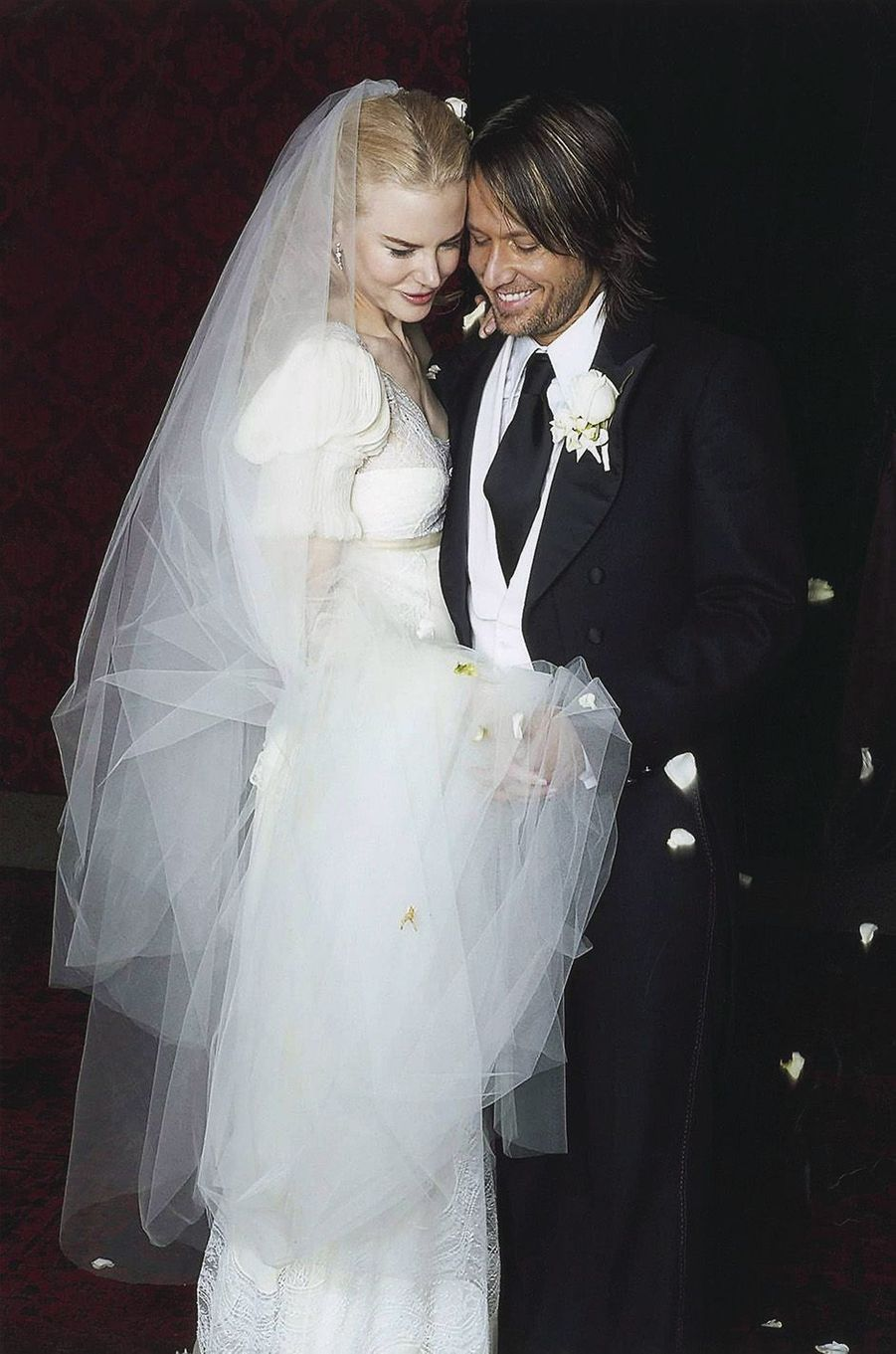 Nicole Kidman lors de son mariage avec Keith Urban, à Sydney, le 25 juin 2006.