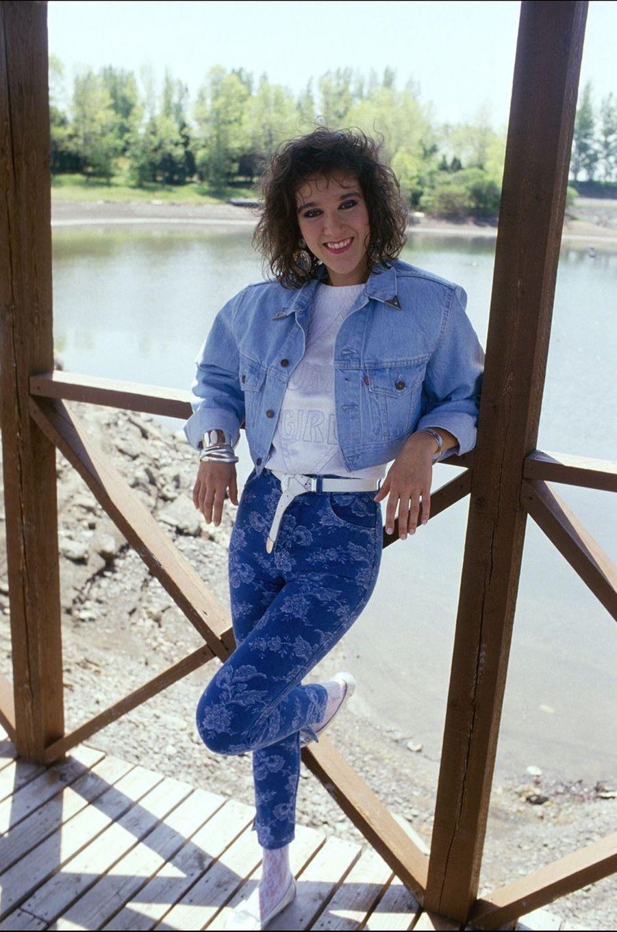 Céline Dion en 1987.