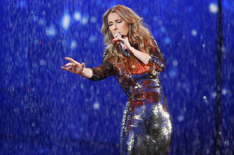 Céline Dion en concert en Chine en 2013.