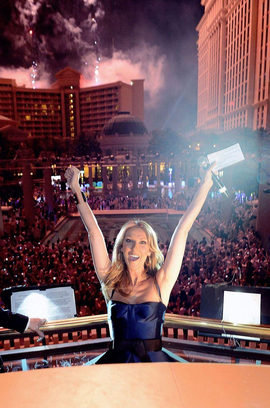 Céline Dion à Las Vegas en 2013.