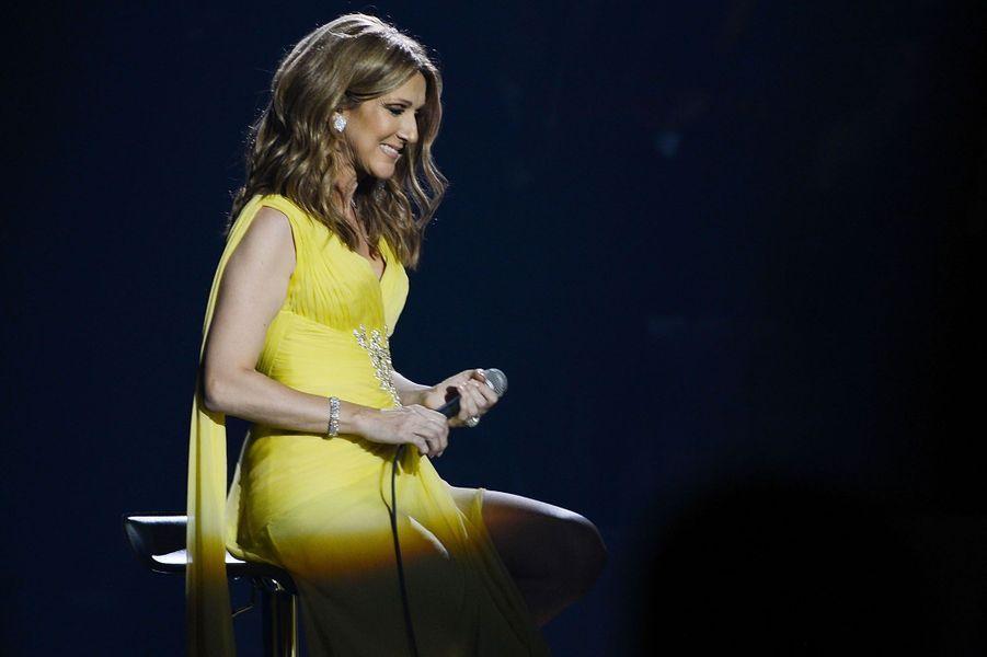Céline Dion en concert à Las Vegas en 2015.