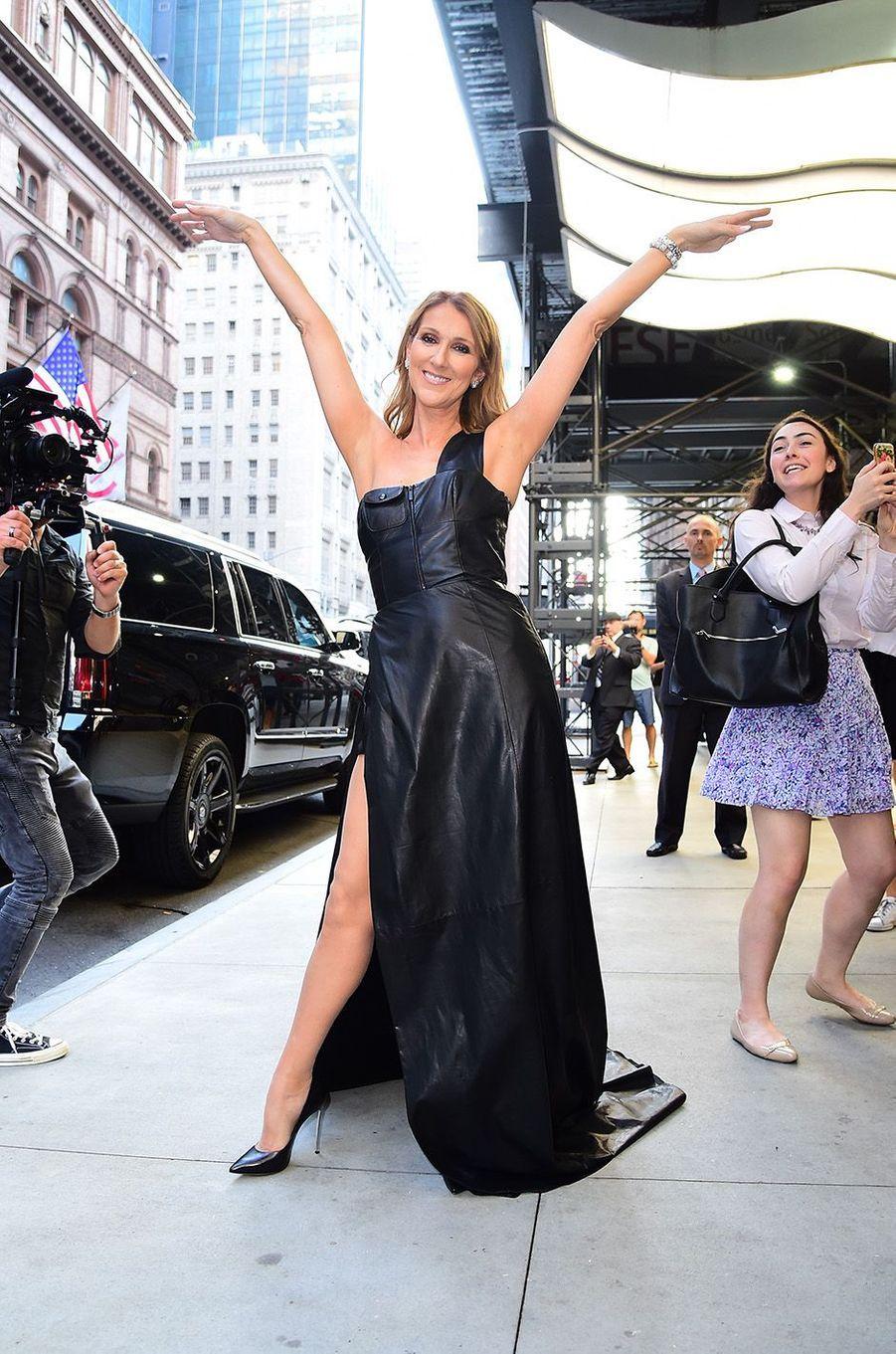Céline Dion en juillet 2016 à New York.