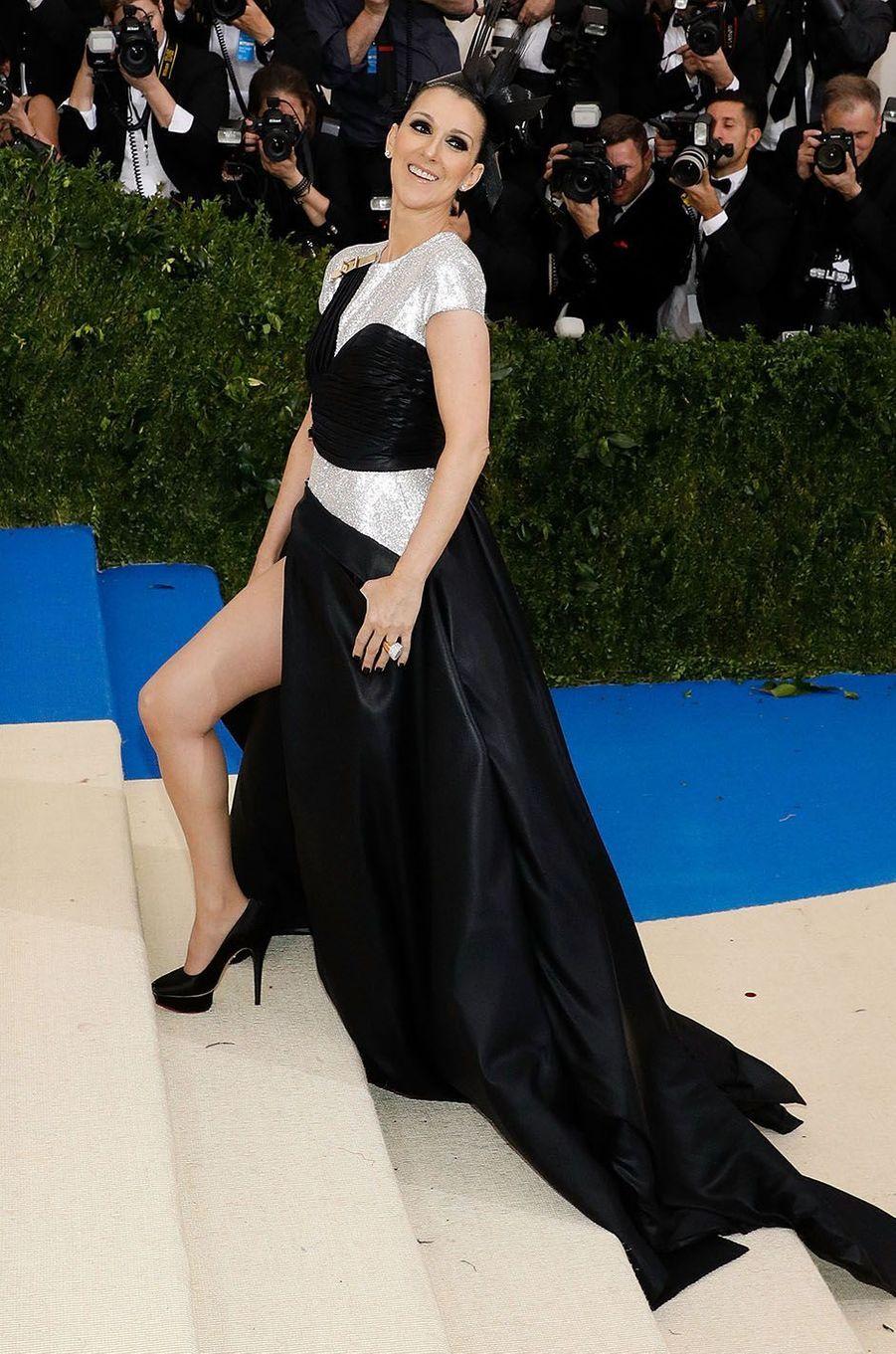 Céline Dion au Met Gala en mai 2017.