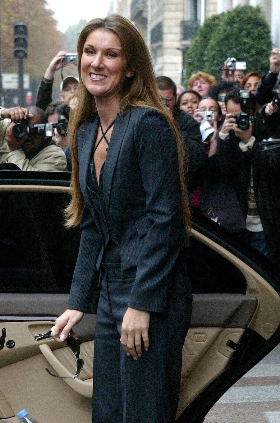 Céline Dion à Paris en 2005.