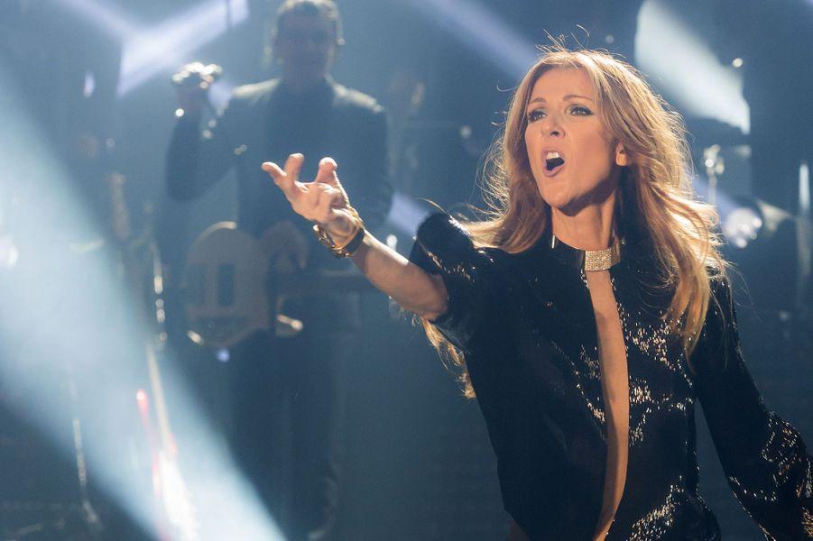 Céline Dion en concert à Paris en 2013.