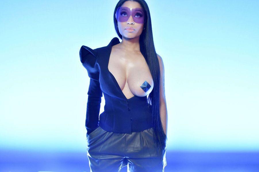 Nicki Minaj au défilé Ackermann à Paris.
