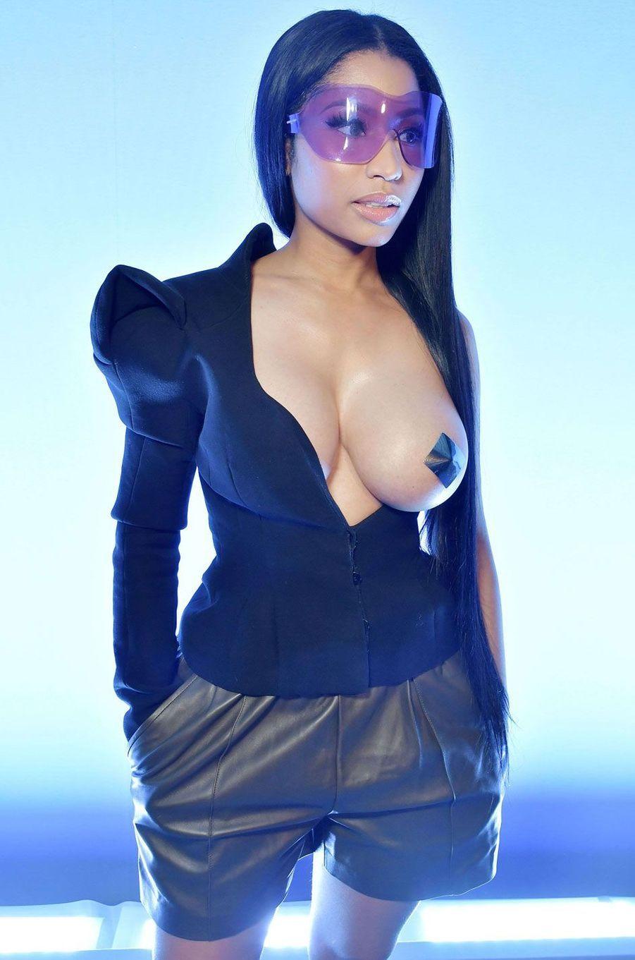 La rappeuse Nicki Minaj à Paris.