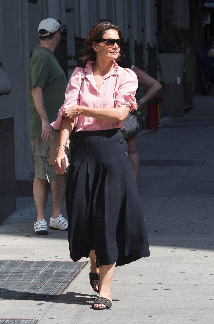 Katie Holmes dans les rues de New York, le 8 août 2018