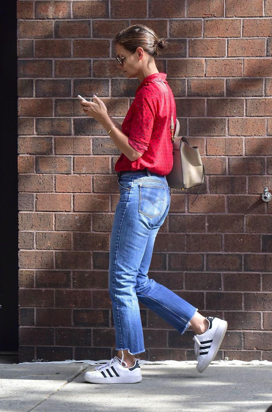 Katie Holmes dans les rues de New York, le 31 juillet 2018