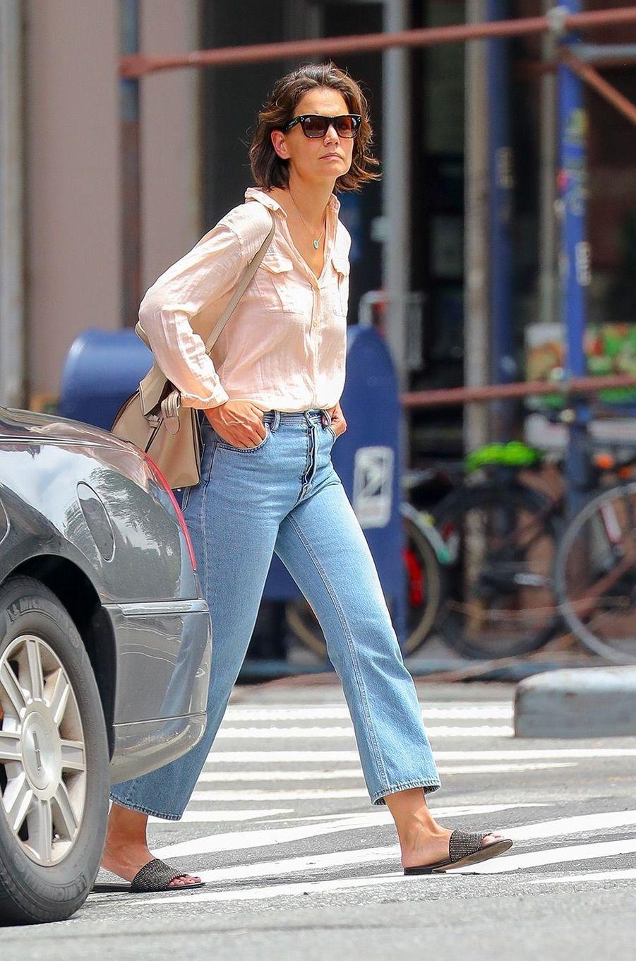Katie Holmes dans les rues de New York, le 26 juillet 2018