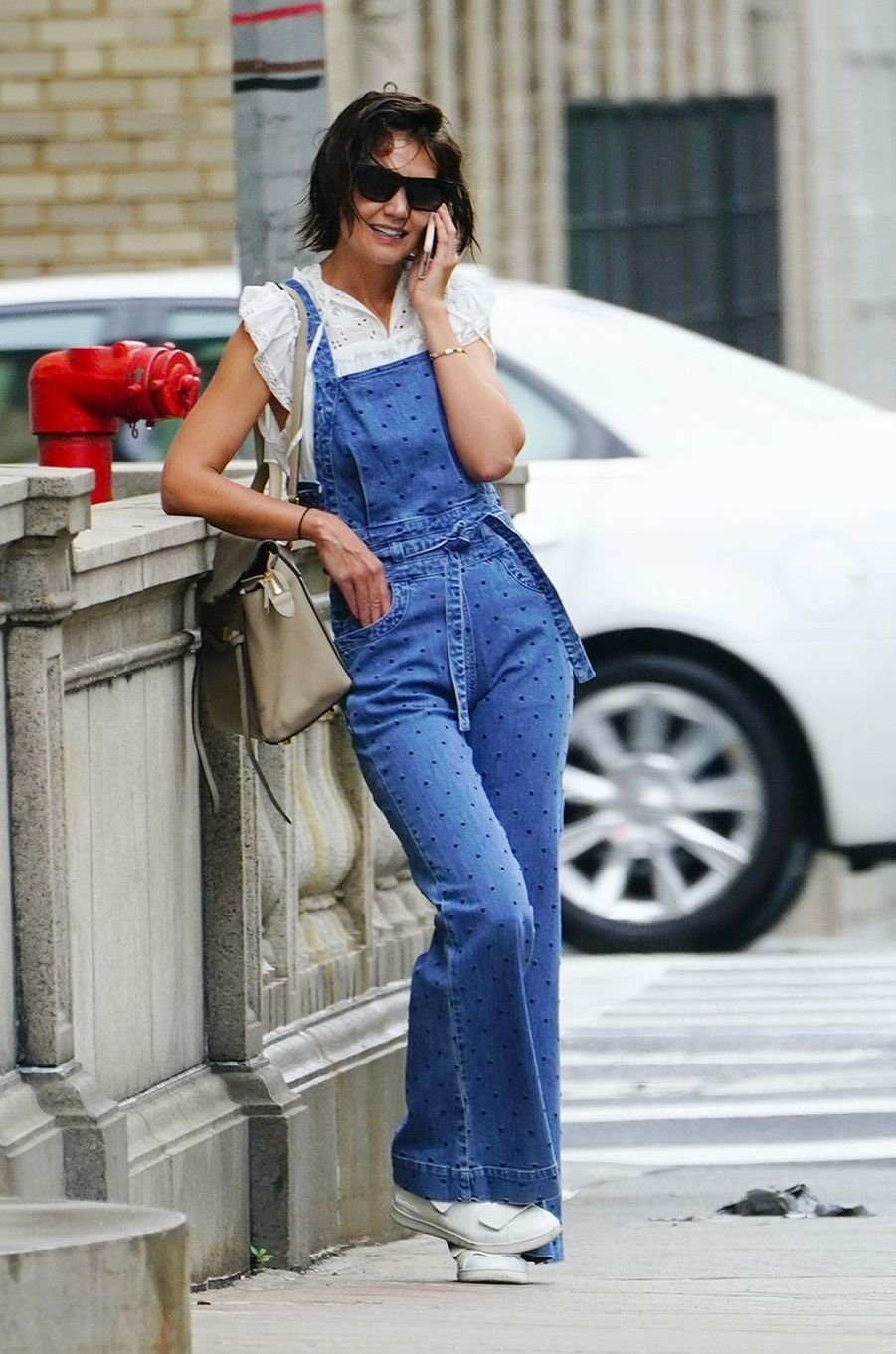 Katie Holmes dans les rues de New York, le 13 août 2018
