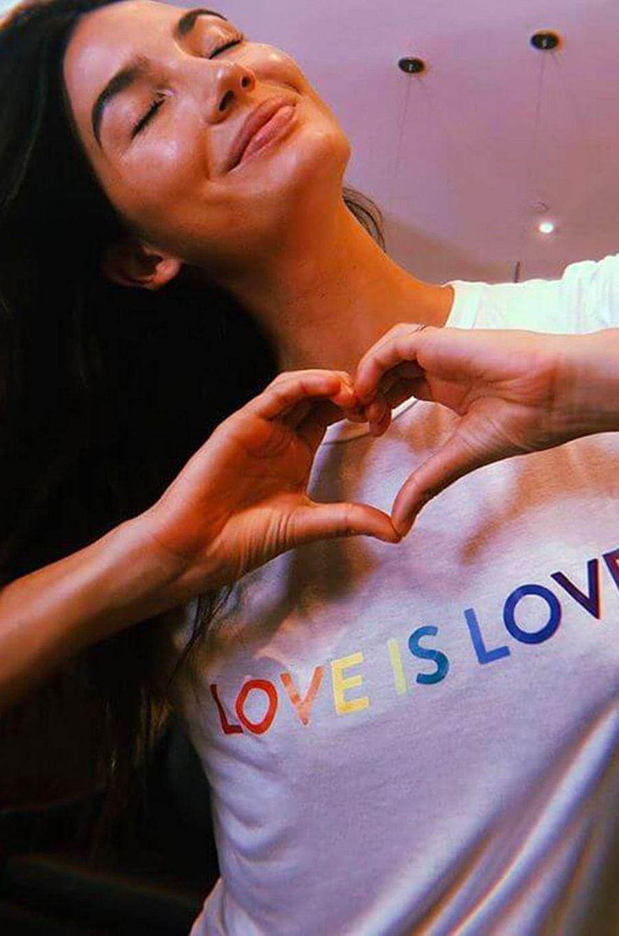 Lily Aldridge à la Gay Pride