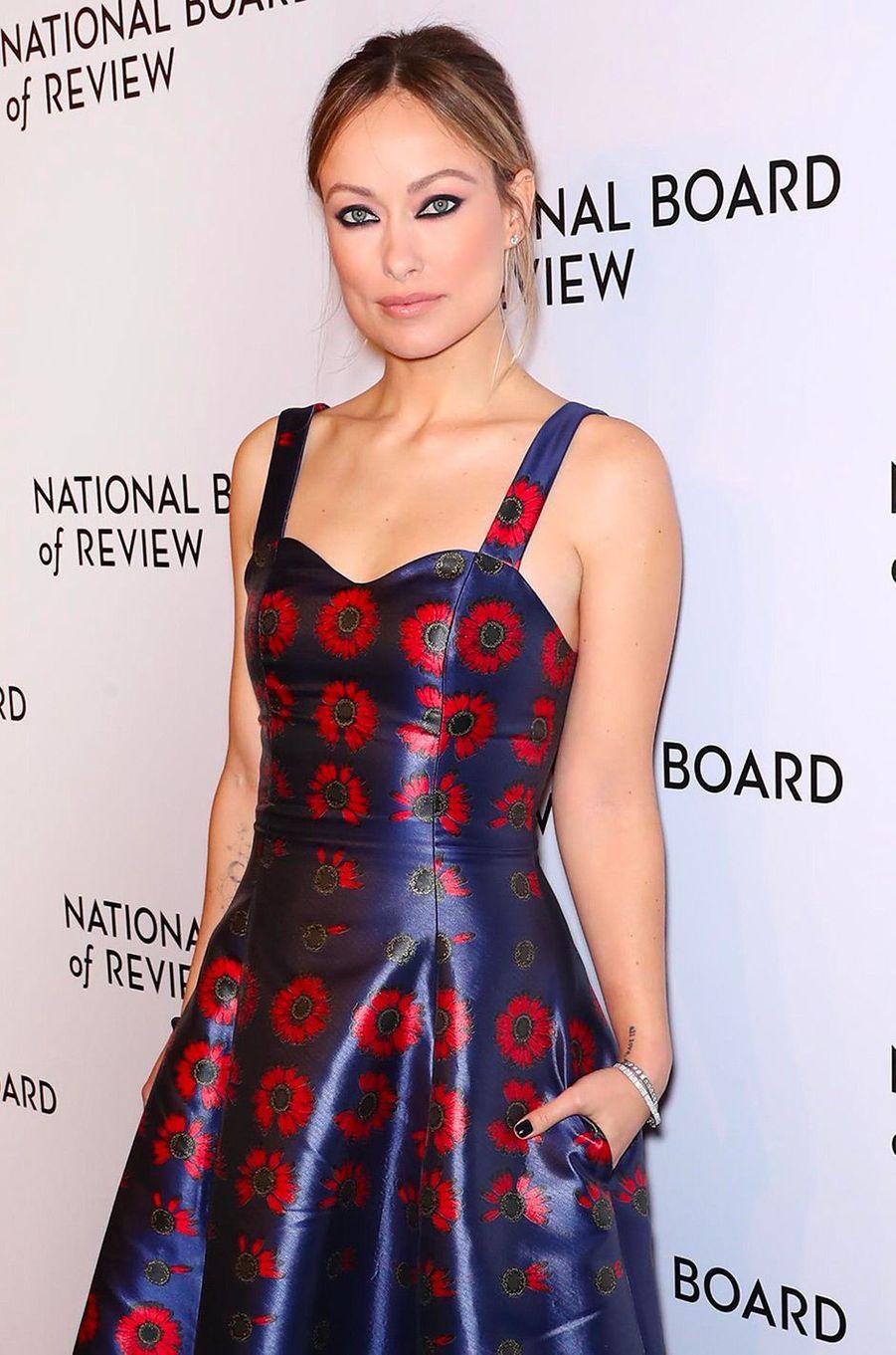 Olivia Wilde au National Board of Review Gala, mardi 8 janvier, à New York