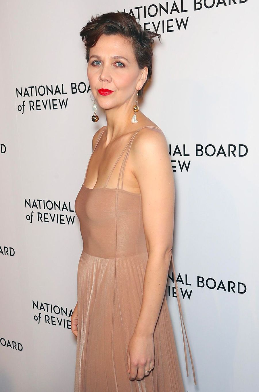 Maggie Gyllenhaal au National Board of Review Gala, mardi 8 janvier, à New York