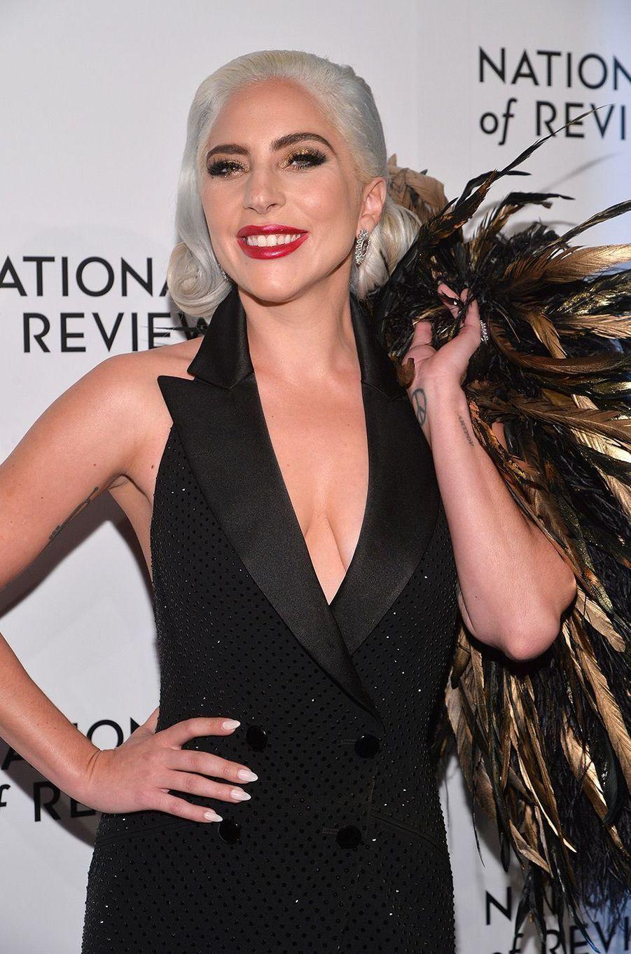Lady Gaga au National Board of Review Gala, mardi 8 janvier, à New York