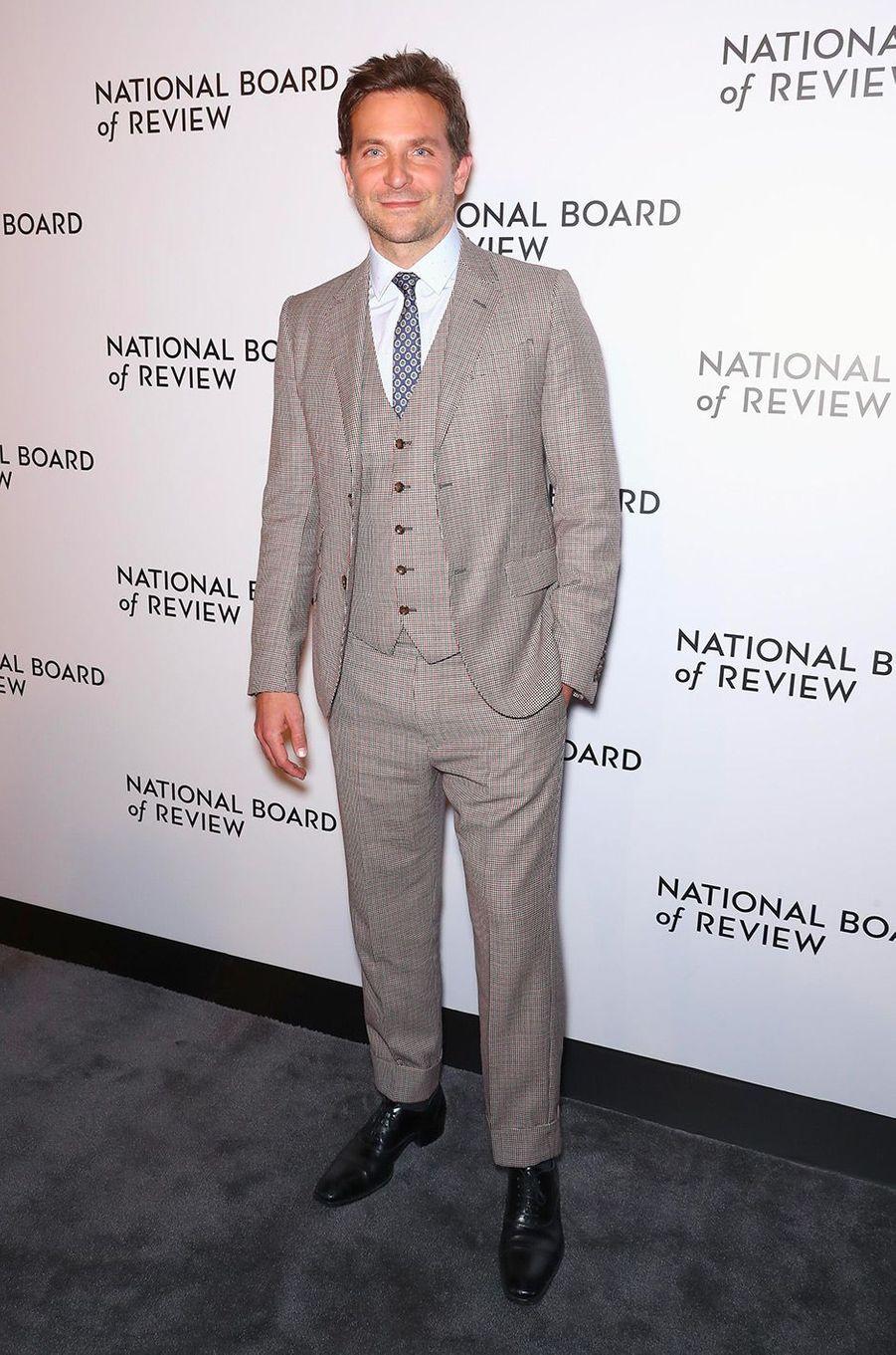 Bradley Cooper au National Board of Review Gala, mardi 8 janvier, à New York