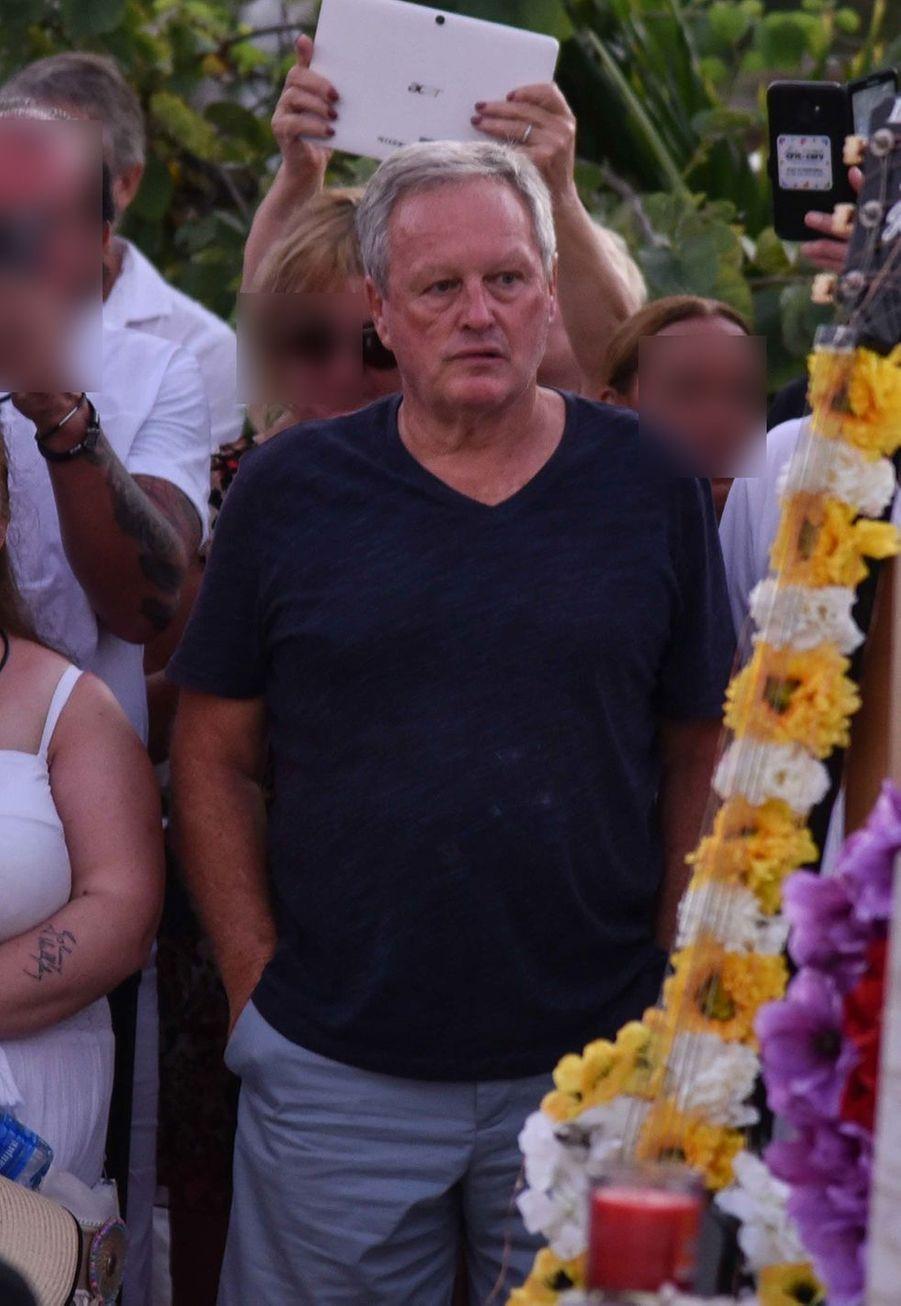 André Boudou, le père de Laeticia Hallyday, à Saint-Barthélemy le 5 décembre 2019