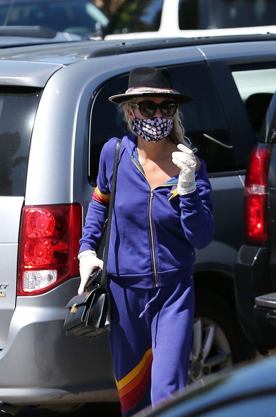 Laeticia Hallyday à Los Angeles le 27 mars 2020