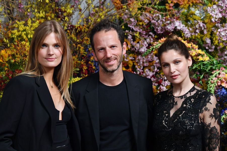Constance Jablonski, Laurent Milchior (président directeur général d'Etam) et Laetitia Castaà Paris, le 21 mars 2019