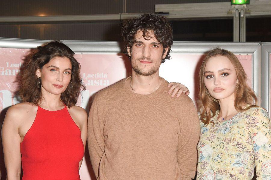 Laetitia Casta, Louis Garrel et Lily-Rose Depp.