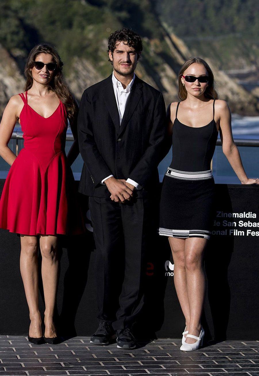 Laetitia Casta, Louis Garrel et Lily-Rose Depp à Saint-Sébastien
