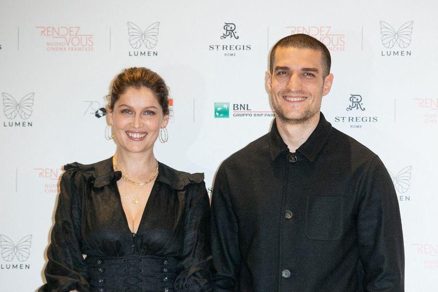 Laetitia Casta et Louis Garrel à Rome pour la présentation du film «L'Homme fidèle» le 5 avril 2019