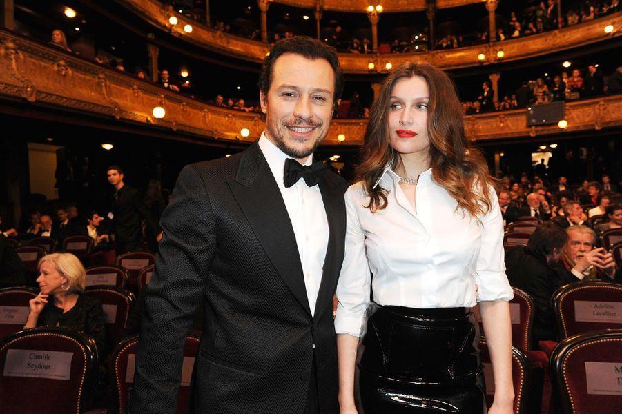 Laetitia Casta et Stefano Accorsi, le père d'Orlando et Athéna, à la cérémonie des Césars 2011.