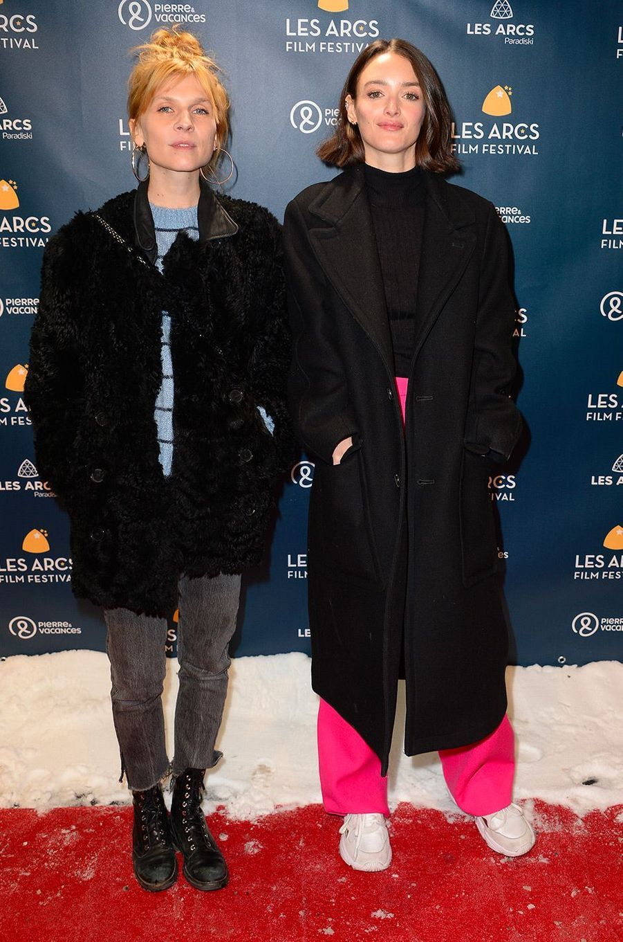 Clémence Poésy et Charlotte Le Bon au Festival des Arcs, samedi 15 décembre