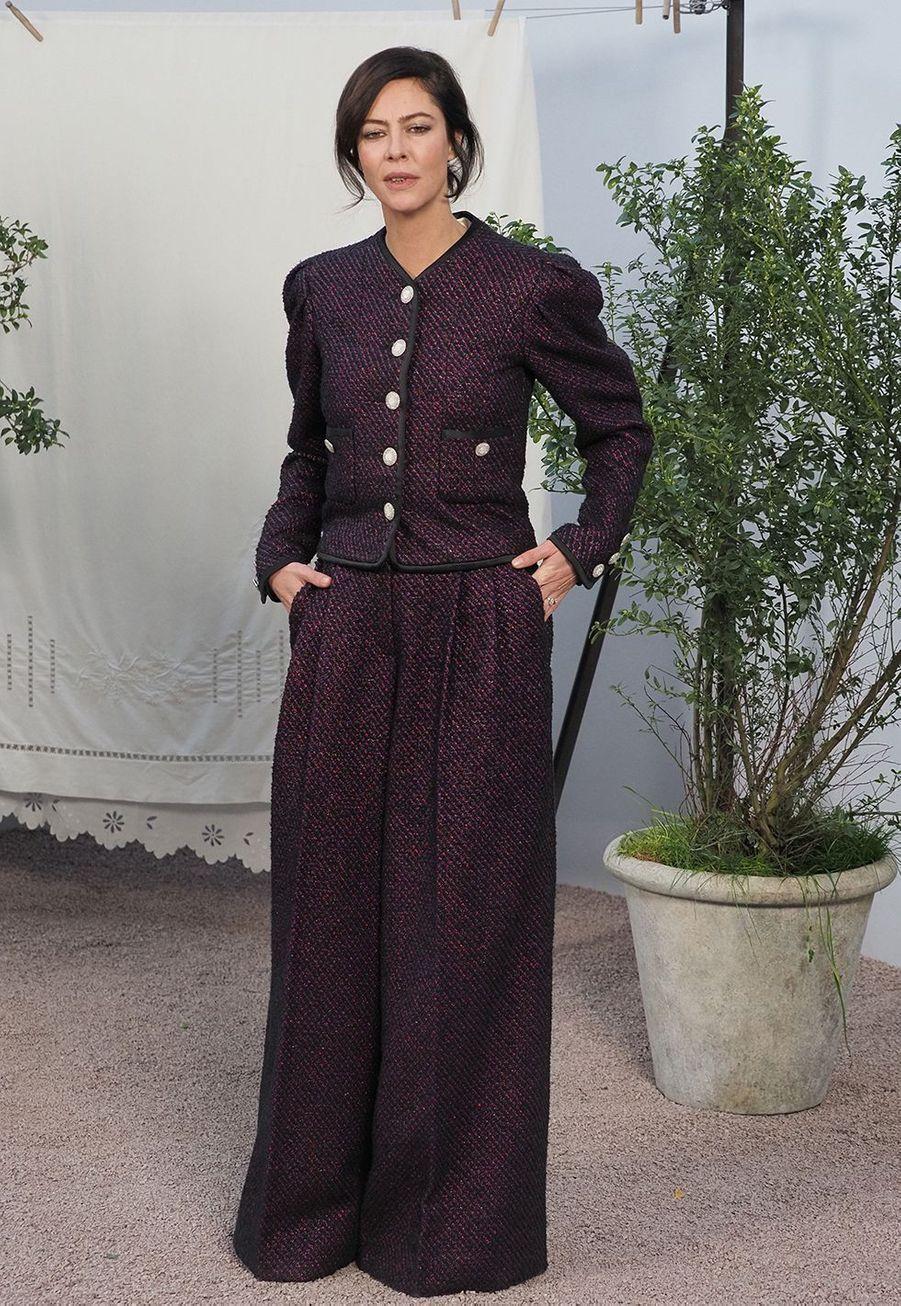 Anna Mouglalisau défilé Chanel Haute Couture printemps-été 2020 au Grand Palais àParis mardi 21 janvier.