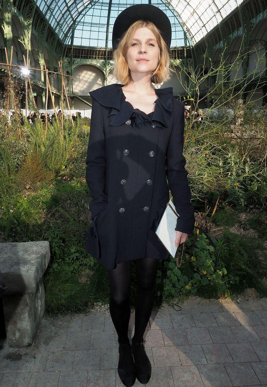 Clémence Poésyau défilé Chanel Haute Couture printemps-été 2020 au Grand Palais àParis mardi 21 janvier.