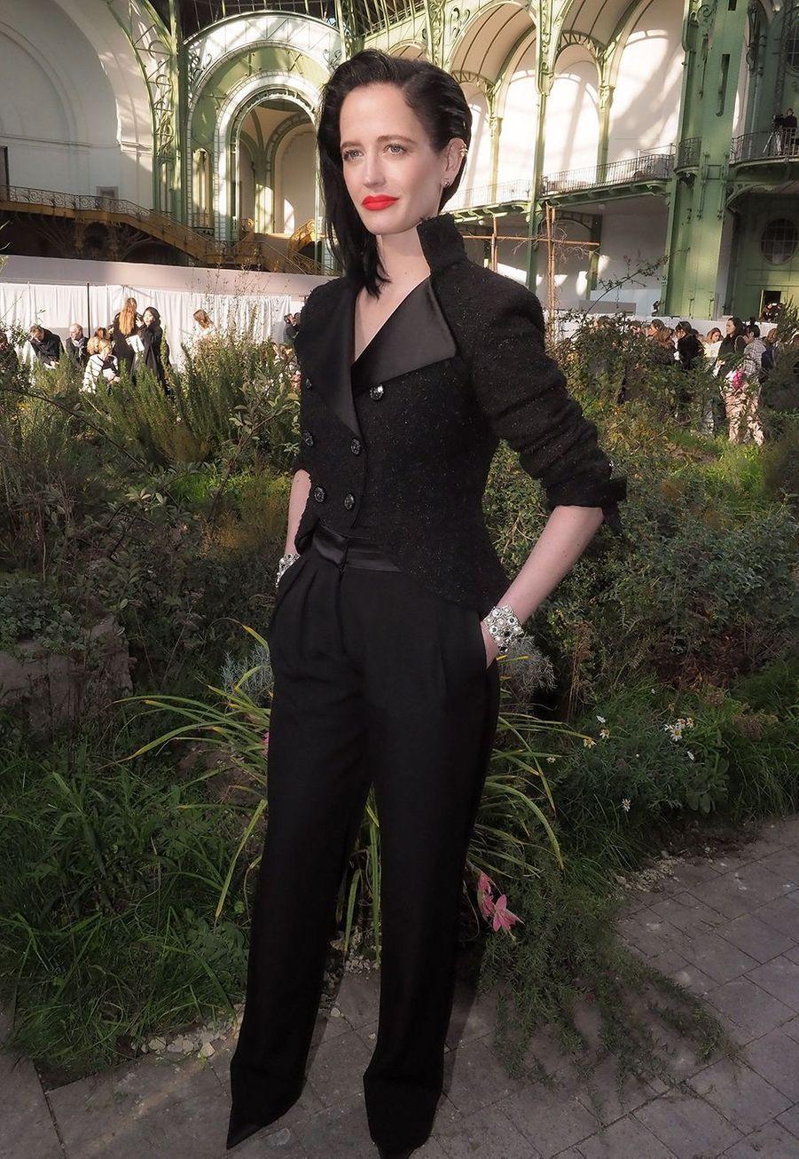 Eva Greenau défilé Chanel Haute Couture printemps-été 2020 au Grand Palais àParis mardi 21 janvier.