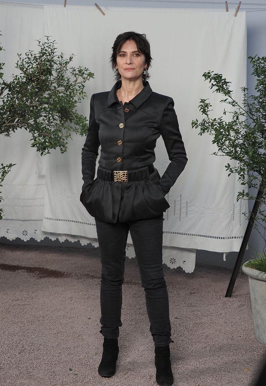 Geraldine Pailhasau défilé Chanel Haute Couture printemps-été 2020 au Grand Palais àParis mardi 21 janvier.