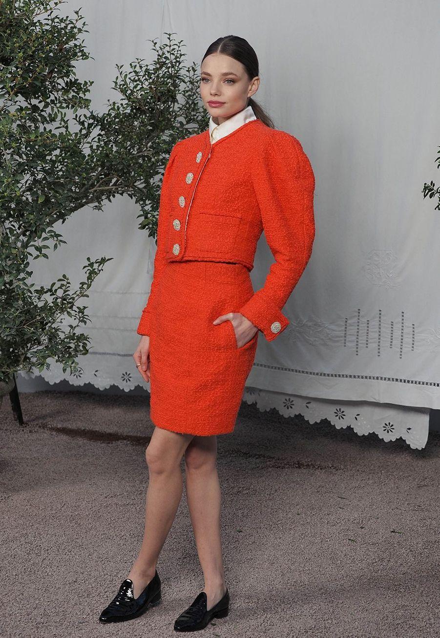 Kristine Frosethau défilé Chanel Haute Couture printemps-été 2020 au Grand Palais àParis mardi 21 janvier.