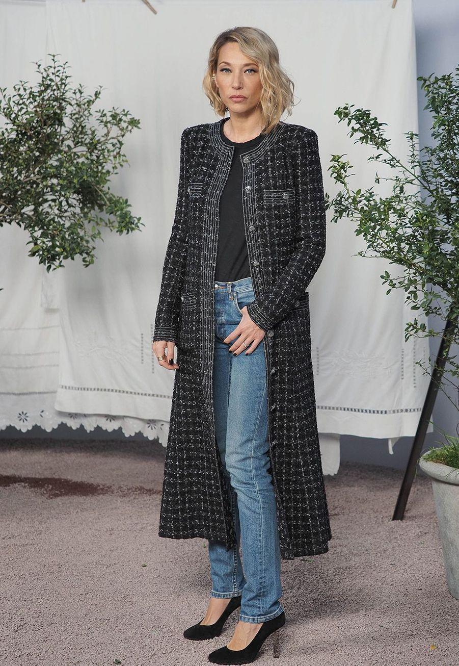 Laura Smet au défilé Chanel Haute Couture printemps-été 2020 au Grand Palais àParis mardi 21 janvier.