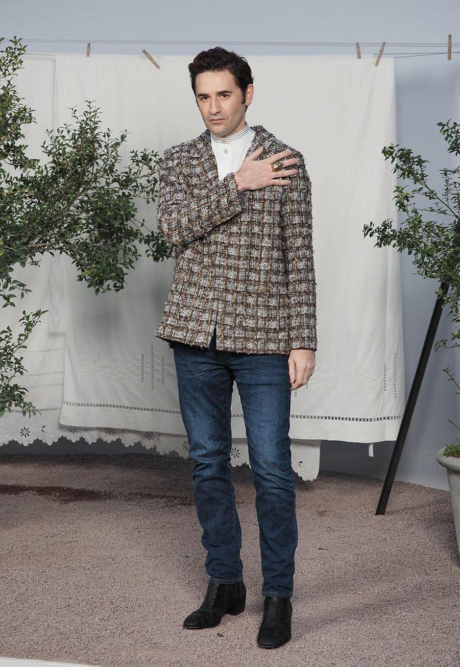 Nicolas Mauryau défilé Chanel Haute Couture printemps-été 2020 au Grand Palais à Paris mardi 21 janvier.