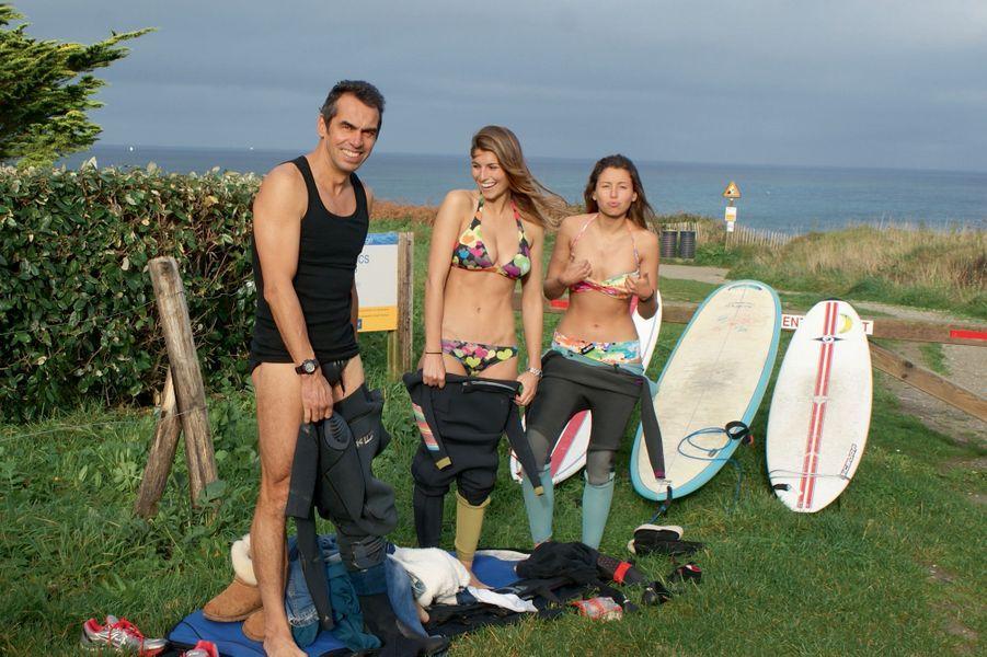 SESSION FAMILIALE Blancs-Sablons, décembre 2013 Je n'envisage pas de surfer en Bretagne sans ma petite sœur Julie et mon papa.