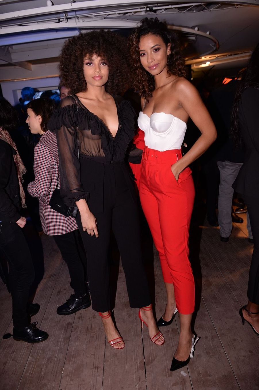 Alicia Aylies et Flora Coquerel lors de la soirée Orange à Cannes, le 18 mai 2019