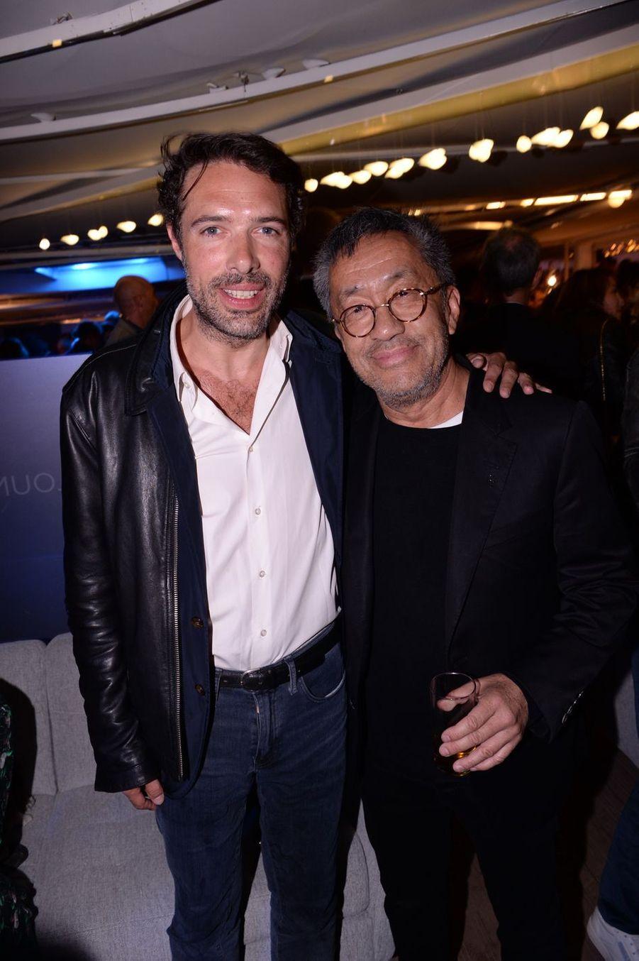 Nicolas Bedos et Renaud Van Kimlors de la soirée Orange à Cannes, le 18 mai 2019